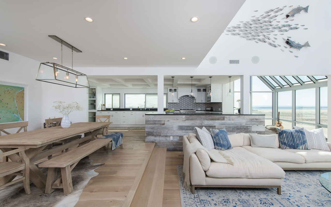 rustic elements bring character to renovated beach house